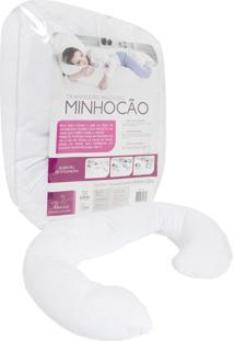 Travesseiro Fibrasca Multiuso Minhocão Branco.