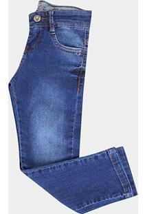 Calça Jeans Infantil Gangster Estonada - Masculino-Jeans