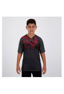 Camisa Flamengo Catch Juvenil Chumbo