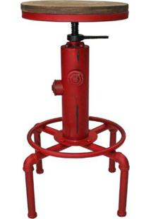 Banqueta Extinguisher Vermelha 82 Cm (Alt) - 47144 Sun House
