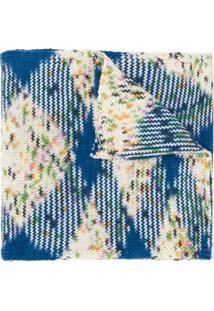 Missoni Cachecol Com Estampa Geométrica De Cashmere - Azul