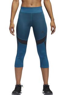 Calça Corsário Com Recortes - Azul & Pretaadidas