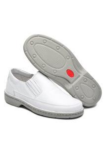 Sapato Social Masculino Branco Em Couro Confort Cr-1005