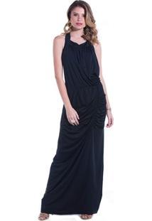 Vestido Longo Franzido - Feminino