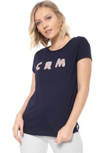 Camiseta Carmim Crm Azul-Marinho