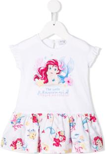 Monnalisa Vestido The Little Mermaid - Branco