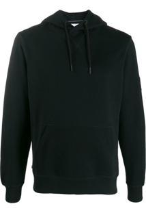 Calvin Klein Jeans Moletom Com Capuz E Logo - Preto