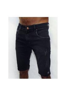 Bermuda Jeans Stretch Uded Black Cyclone Cyclone Jeans