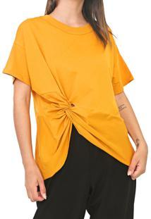 Camiseta Colcci Nã³ Amarela - Amarelo - Feminino - Algodã£O - Dafiti