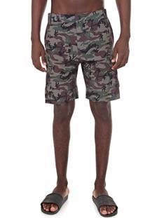 Bermuda Água Dc Shoes Chino Amphibian Camo Verde/Marrom