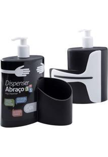 Dispenser Abraço Preto 600Ml 10864/0008 - Coza - Coza