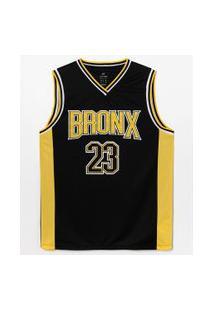 Regata Esportiva Estampa Basquete Bronx | Get Over | Preto | P