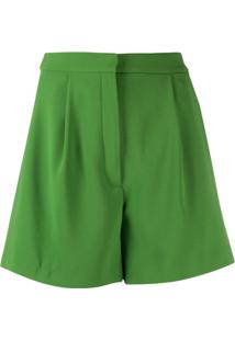 Kenzo Pleated A-Line Shorts - Verde