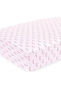 Lençol Para Berço - 130X70 Cm - Corações - Pink - Koala Baby - Babies'R'Us