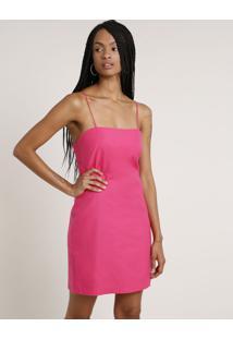 Vestido Feminino Curto Alça Fina Pink