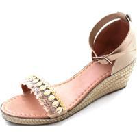 6c31402f35 Dafiti. Sandália Anabela Sapatotop Shoes Nude