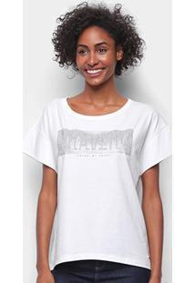 Camiseta Colcci Bravery Com Aplicação Feminina - Feminino-Branco
