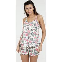 6d132535c Marisa. Pijama Feminino Estampa Floral Alças Finas Marisa