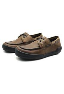 Sapato Em Couro Hayabusa Z 20 Tan Solado Preto