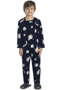 Pijama Masculino Espaço Azul
