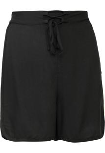 Short Mercatto Faixas Laterais Preto/Branco