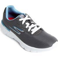 f37f3d475c1 Tênis Skechers Go Run 400 Feminino - Feminino-Cinza+Azul