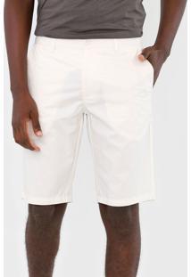 Bermuda Colcci Chino Color Off-White - Off White - Masculino - Algodã£O - Dafiti
