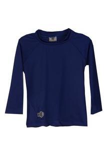 Camisa Peixinho Dourado Proteçáo Solar Uv50 Azul
