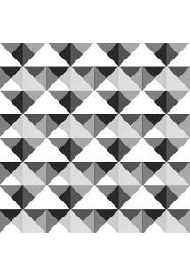 Papel De Parede Adesivo Geométrico Cinza Escuro (0,58M X 2,50M)