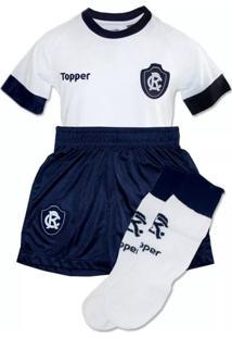 Kit Topper Remo Ii Camisa + Short + Meião Infantil Branco
