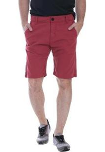 Bermuda Jeans Eventual Masculina - Masculino-Vermelho