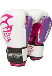 37e4f646e682a Luva De Boxe Pretorian Elite Branco Rosa
