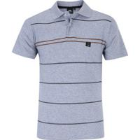 5a8bdd4c7d Camisa Polo Hd Simple Stripes - Masculina - Cinza Claro
