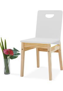 Cadeira Sala De Jantar Tucupi 40X51X81Cm - Acabamento Stain Natural E Laca Branco