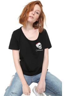 Camiseta Cavalera Logo Preta