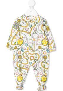 Young Versace Pijama Com Estampa - Branco