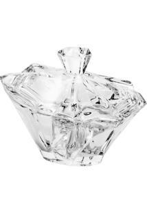 Bomboniere Com Tampa Angle De Vidro Sodo-Cálcico 14,7X13,3 Cm - Unissex