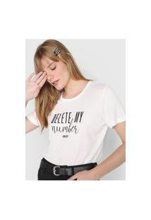 Camiseta Colcci Delete Branca