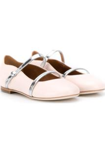 Malone Souliers Kids Maureen Pump Smalls Ballerina Shoes - Rosa