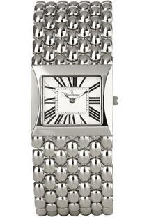Relógio Analógico Jv00294- Branco & Prateado- Jean Vjean Vernier