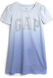 Vestido Gap Infantil Tie Dye Azul