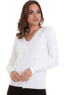 15eb4b211d Cardigan Tricot Kinara Trabalhado Furinhos Feminina - Feminino