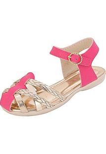 Sandália Infantil Plis Calçados Charminho Feminina - Feminino-Pink