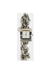 Relógio Feminino Analógico Prata Dumont - Sg25024B Prata