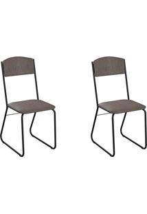 Conjunto Com 2 Cadeiras Byron Marrom E Preto