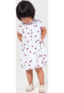 Vestido Godê Bebê Menina Estampado Em Tecido Hering Kids