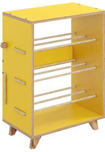 Sapateira Cordel 3 Níveis Amarelo Bentec