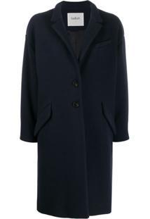 Ba&Sh Boris Single-Breasted Coat - Azul