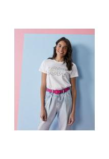 Amaro Feminino T-Shirt Love Beyond, Off-White