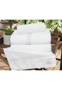 Jogo De Toalhas (Banho E Rosto) Gigante Coleção Myriad Branco Friba De Bambú Com 5 Peças - Ruth Sanches